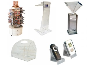 Clear Custom Acrylic Displays, Boxes and Products from Akriform