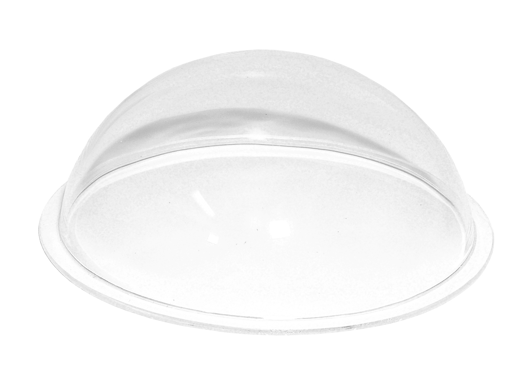 Clear Plastic domes made from Acrylic are an excellent display solution.