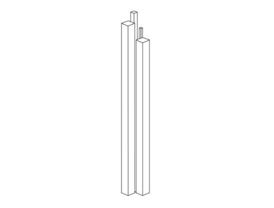 Plexiglas square rod for sell by Akriform standard and pre-cut sizes