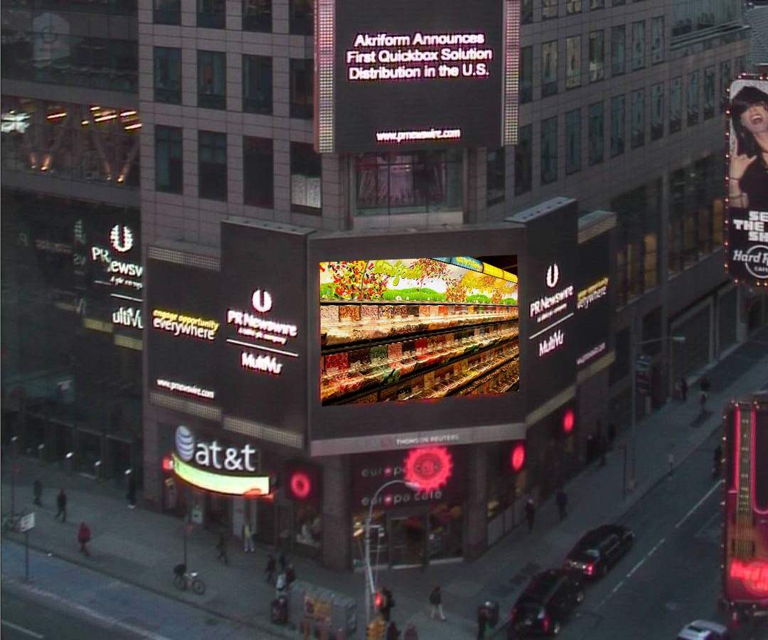 Akriform Quickbox Display in Time Square New York City in Feburary 2013 small