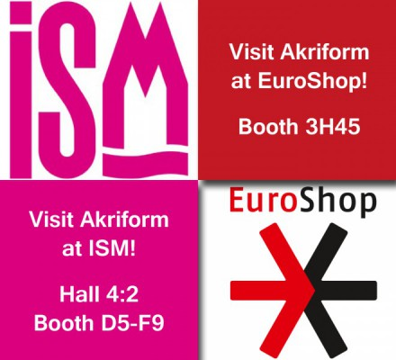 Akriform at ISM Hall 4:2 and EuroShop 3H45