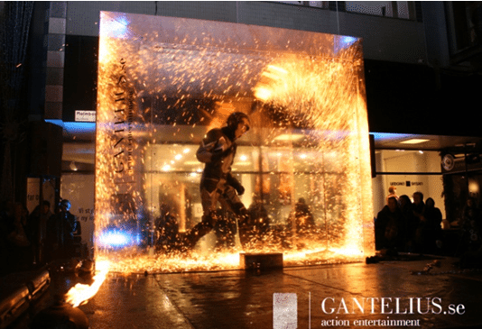 Fire Art Installation Acylic/Plexiglas project by Akriform