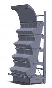 L Display Rack with Quickbox Scoop Bins e1405080999634 178x300 Varuexponeringslösningar   Akriform