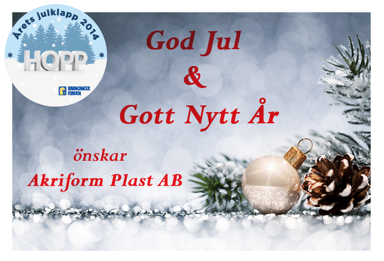 God Jul önskar Akriform
