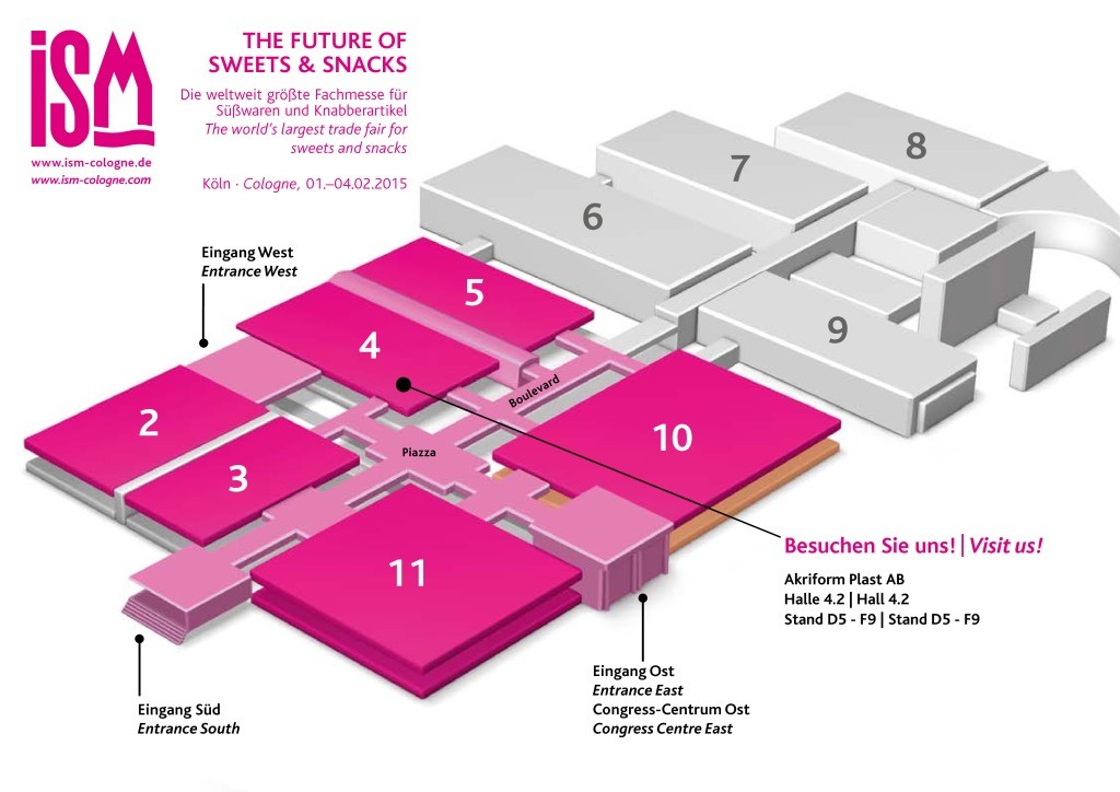 ISM personifierad hall plan1 ISM Cologne, 1 4 February 2015   Akriform