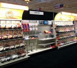 National Grocers Association Expo in Las Vegas. In Partnership with Tebo Store Fixtures, Candy People used the Quickbox bin to merchandise Scandinavian Pick & Mix confectionery.