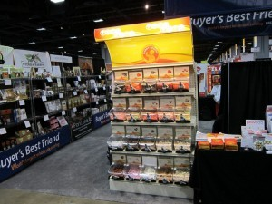 Fancy Food Show in Washington, DC, Quickbox merchandising bins for Pick & Mix candy