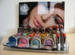 Acrylic makeup display with ad