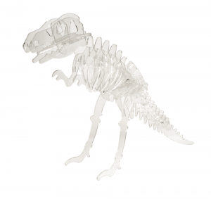 Laser cut acrylic dinosaur