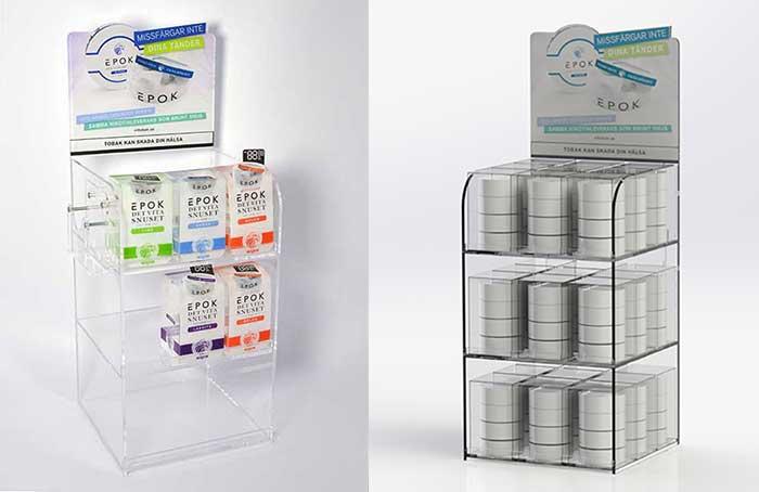 Product display in plexiglass