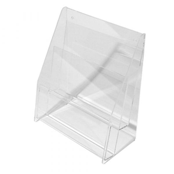 04330 Broschyrställ i akryl flerfack