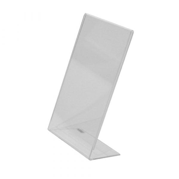 Ensidig broschyrhållare/infoficka bord