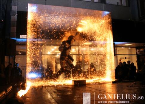 Fire Art Installation Acylic/Plexiglas project by Akriform