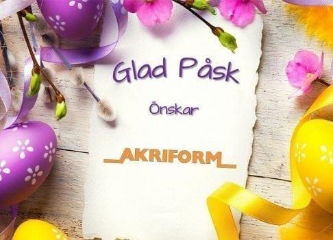 Glad Påsk önskar Akriform