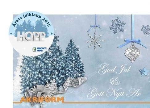 God Jul & Gott Nytt År önskar Akriform
