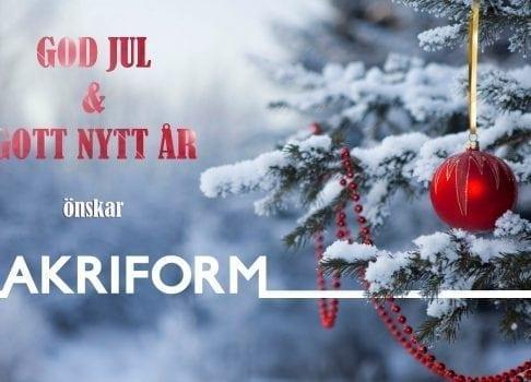 God Jul önskar Akriform
