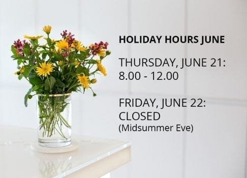 Holiday Hours Midsummer 2018
