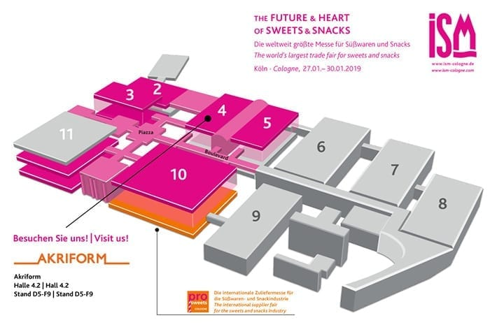 ISM Cologne 2019 karta